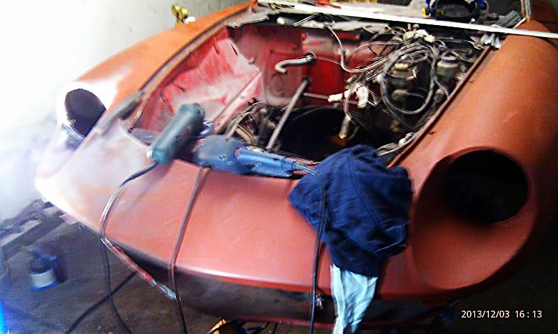 Alfa Romeo Spider Restaurierung Dez. 2013