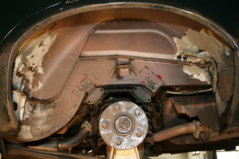 Mit Eisstrahlen gereinigtes Jaguar Radhaus