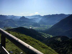 Rossfeldstraße, Berchtesgaden, Blick nach Österreich